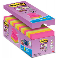 Z-Notes Post-it 76x76mm assorti voordeelpak 12+4 gratis