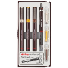 Tekenset rapidograph Rotring college set 0,25/0,35/0,5mm (3)