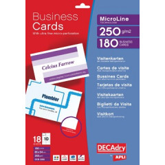 Visitekaarten Decadry MicroLine 85x54mm 185g 10/bl(18)