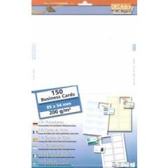 Visitekaarten Decadry MicroLine 85x54mm 200g 10/bl (15)