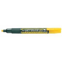 Marker Pentel Wet Erase Semi-Permanent beitelpunt 2-4mm geel