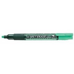 Marker Pentel Wet Erase Semi-Permanent beitelpunt 2-4mm groen
