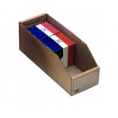 Magazijnbakje karton 300x110x115mm bruin (50)