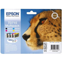 Cartridge Epson Inkjet T0715 Stylus D120 245 pag./495 pag. VALUE PACK BK/C/M/Y
