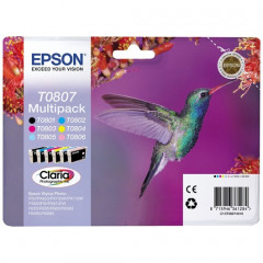 Cartridge Epson Inkjet T0807 Stylus Photo P50 VALUE PACK BK/C/M/Y/LC/LM