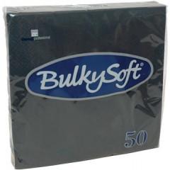 Servet Bulkysoft 2-laags zwart (50)
