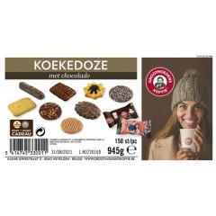 Koekjes Grootmoeders Koffie Koekedoze met chocolade assorti (150)