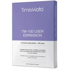 Uitbreidingspakket Safescan TimeMoto Cloud voor 100 extra gebruikers