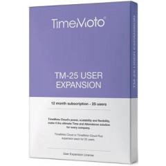 Uitbreidingspakket Safescan TimeMoto Cloud voor 25 extra gebruikers