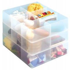 Onderverdeling Really Useful Box met 6 vakken voor opbergboxen met ≠ formaten