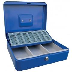 Geldkoffer Acropaq met muntsorteerder 30x24x9cm blauw