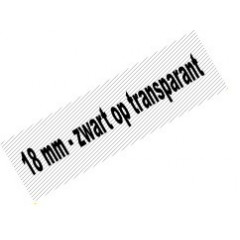 Tape Brother P-Touch TZE-141 18mm zwart op transparant