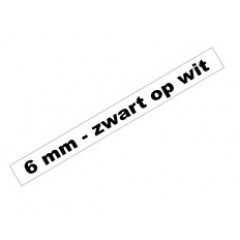 Tape Brother P-Touch TZE-211 6mm zwart op wit