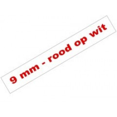 Tape Brother P-Touch TZE-222 9mm rood op wit