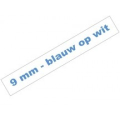 Tape Brother P-Touch TZE-223 9mm blauw op wit