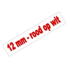 Tape Brother P-Touch TZE-232 12mm rood op wit