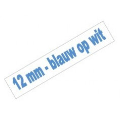 Tape Brother P-Touch TZE-233 12mm blauw op wit
