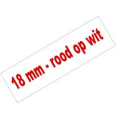 Tape Brother P-Touch TZE-242 18mm rood op wit
