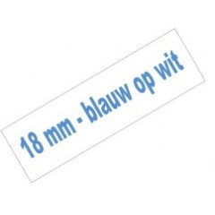 Tape Brother P-Touch TZE-243 18mm blauw op wit