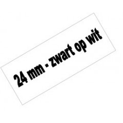 Tape Brother P-Touch TZE-251 24mm zwart op wit