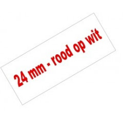 Tape Brother P-Touch TZE-252 24mm rood op wit