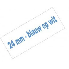 Tape Brother P-Touch TZE-253 24mm blauw op wit