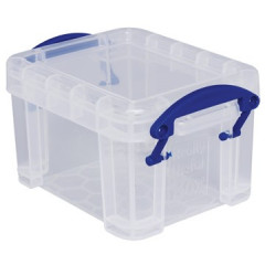 Opbergdoos Really Useful Box 0,14l transparant