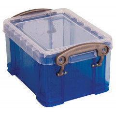 Opbergdoos Really Useful Box 0,33l transparant blauw