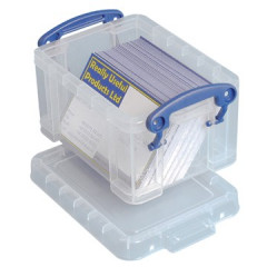 Opbergdoos Really Useful Box 0,33l transparant
