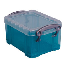 Opbergdoos Really Useful Box 0,33l transparant groen