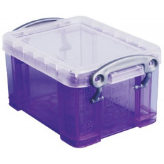 Opbergdoos Really Useful Box 0,33l transparant paars