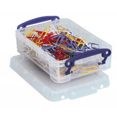 Opbergdoos Really Useful Box 0,35l transparant