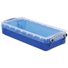 Opbergdoos Really Useful Box 0,55l transparant blauw