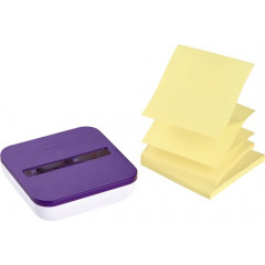 Z-Notes Post-It Super Sticky 76x76mm geel (2) met dispenser