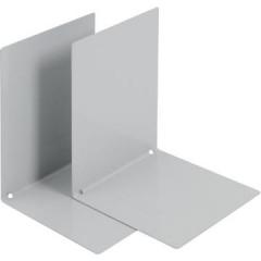 Boekensteun V-Part metaal grijs (2)
