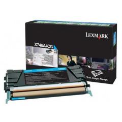 Lexmark col laser X746 toner X746A1 CY