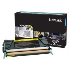 Toner Lexmark Color Laser X746A1YG X746de 7.000 pag. YEL