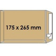 Zakomslag 175X265 bruin + strip Z/V (250)