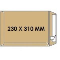 Zakomslag 230X310 bruin + strip Z/V (250)