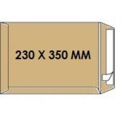 Zakomslag 230X350 bruin + strip Z/V (250)